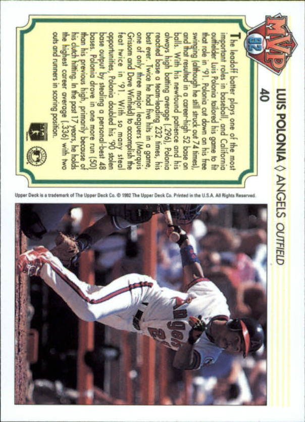 1992-Upper-Deck-Team-MVP-Holograms-You-Pick-Buy-10-cards-FREE-SHIP thumbnail 63