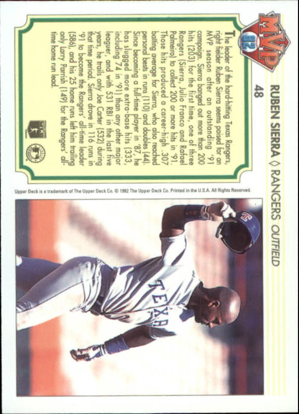 1992-Upper-Deck-Team-MVP-Holograms-You-Pick-Buy-10-cards-FREE-SHIP thumbnail 71
