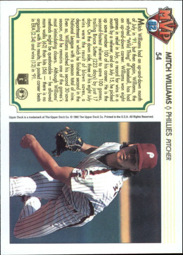 1992-Upper-Deck-Team-MVP-Holograms-You-Pick-Buy-10-cards-FREE-SHIP thumbnail 79