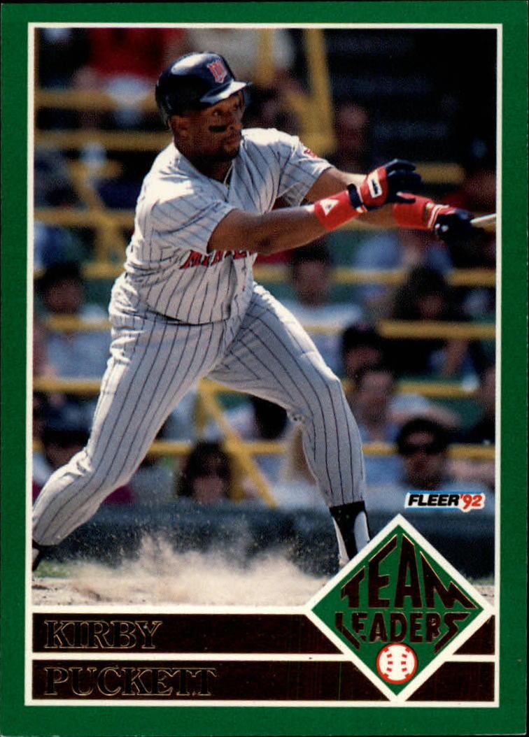 be6dbd983a 1992 Fleer Team Leaders #5 Kirby Puckett - NM-MT - Ziggy's ...