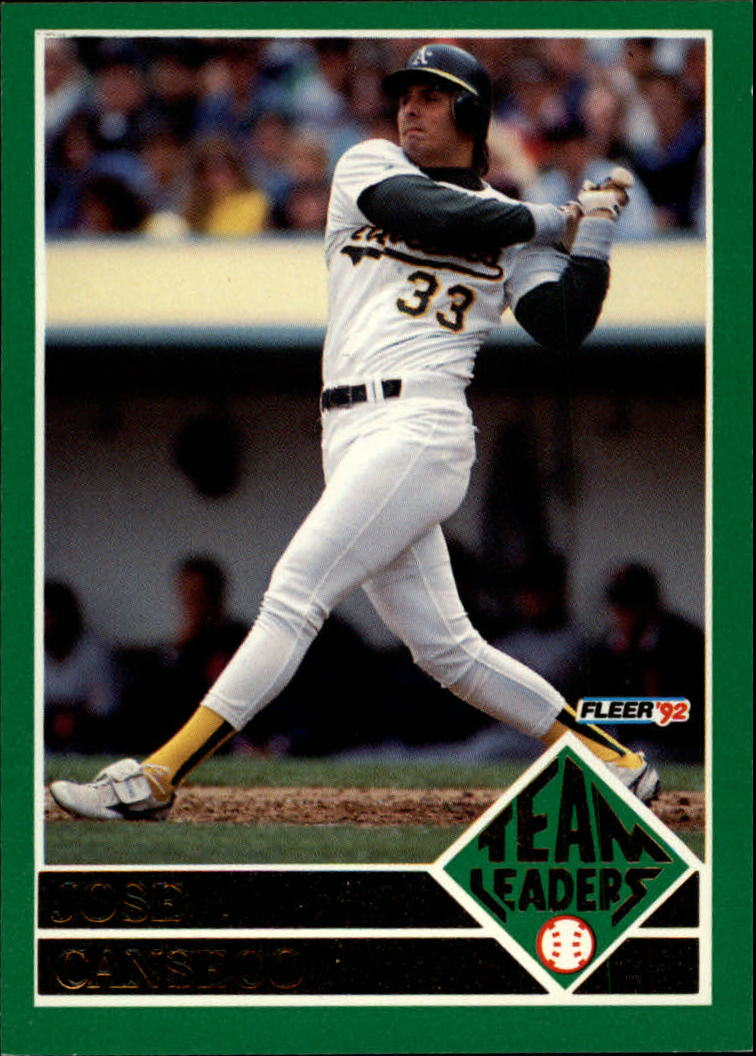 80e9592f22 1992 (ATHLETICS) Fleer Team Leaders #19 Jose Canseco | eBay