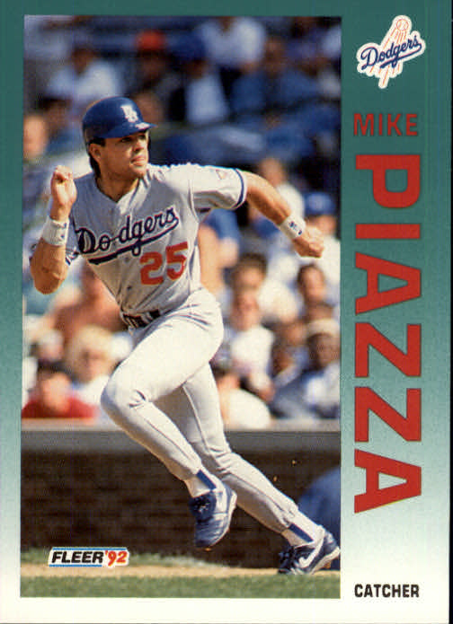 1992 Fleer Update #92 Mike Piazza RC