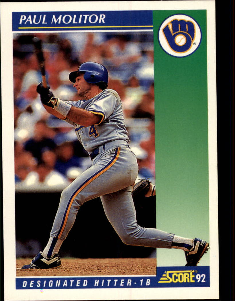 1992 Score #61 Paul Molitor