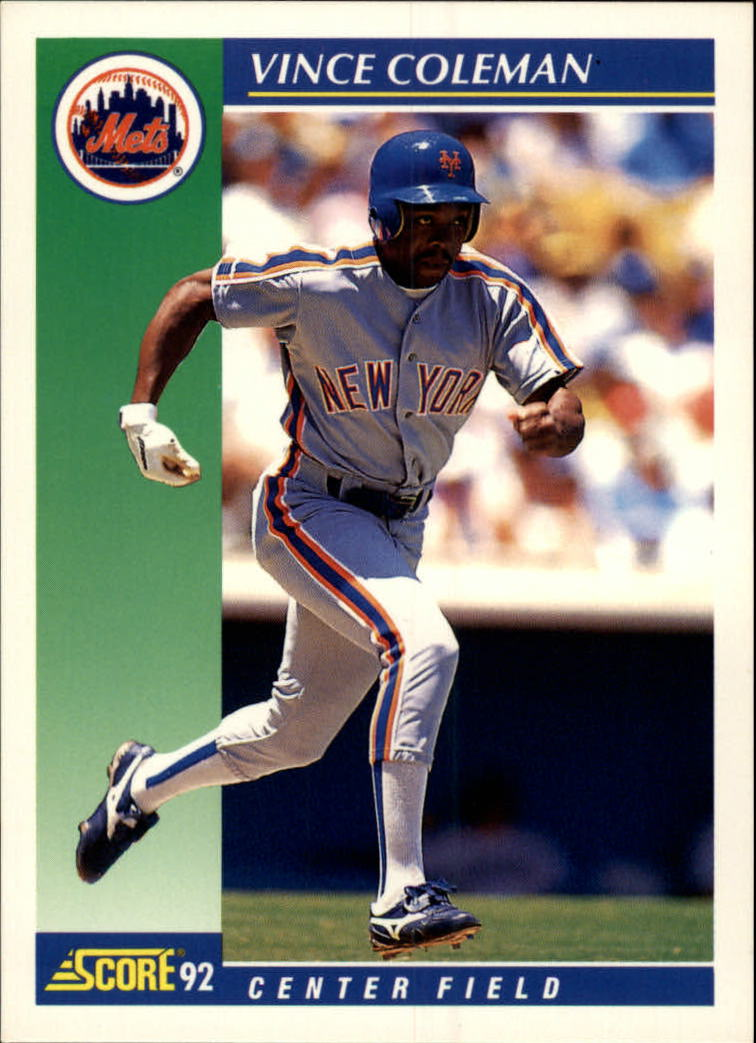 1992 Score #95 Vince Coleman