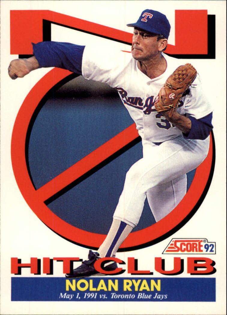 Details About 1992 Score Texas Rangers Baseball Card 425 Nolan Ryan Nh