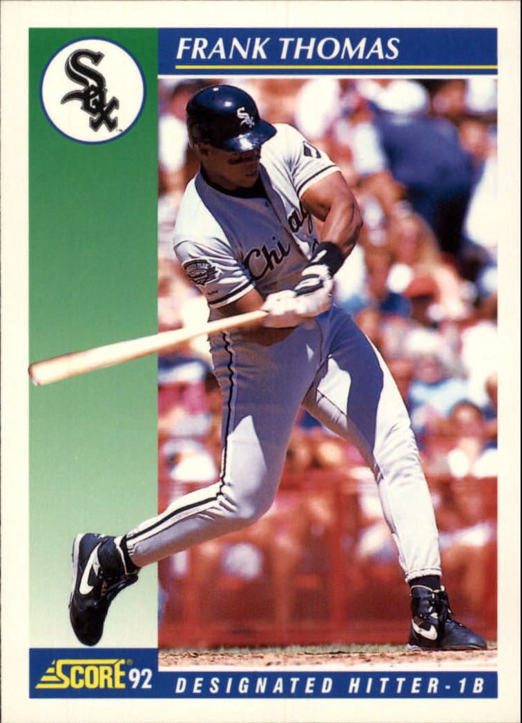 1992 Score #505 Frank Thomas UER/His Gulf Coast League/stats are wrong