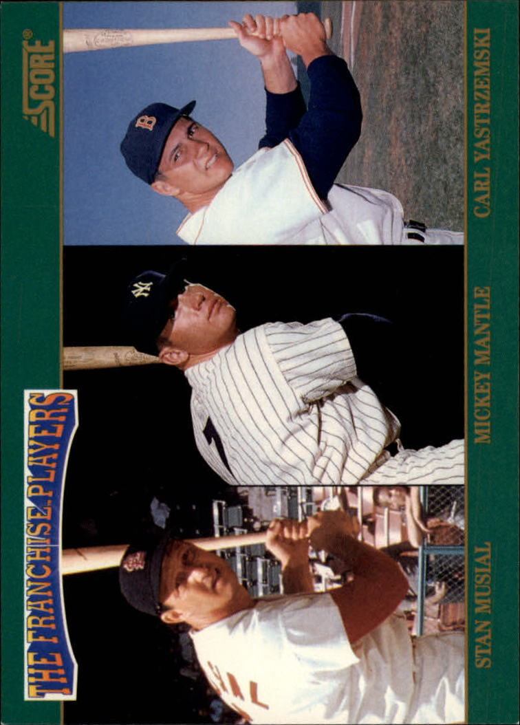 1992 Score Franchise #4 Musial/Mantle/Yaz