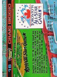 1992 Stadium Club Dome #16 Craig Biggio back image
