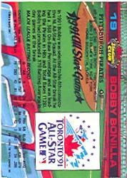 1992 Stadium Club Dome #19 Bobby Bonilla back image