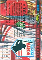 1992 Stadium Club Dome #69 Todd Greene back image