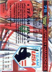 1992 Stadium Club Dome #75 Jeffrey Hammonds back image
