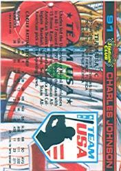 1992 Stadium Club Dome #91 Charles Johnson back image
