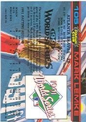 1992 Stadium Club Dome #105 Mark Lemke back image