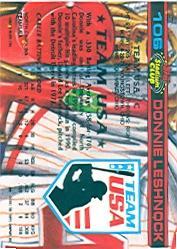 1992 Stadium Club Dome #106 Donnie Leshnock back image