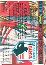 1992 Stadium Club Dome #113 Jason McDonald back image
