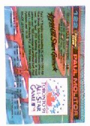 1992 Stadium Club Dome #122 Paul Molitor back image