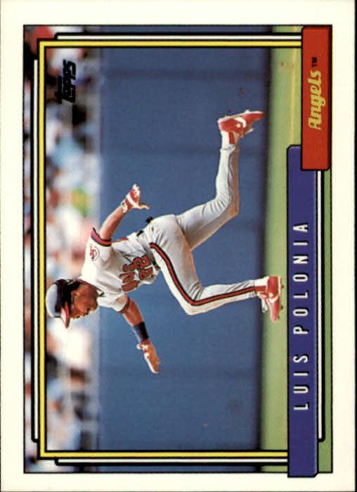 1992 Topps #37 Luis Polonia