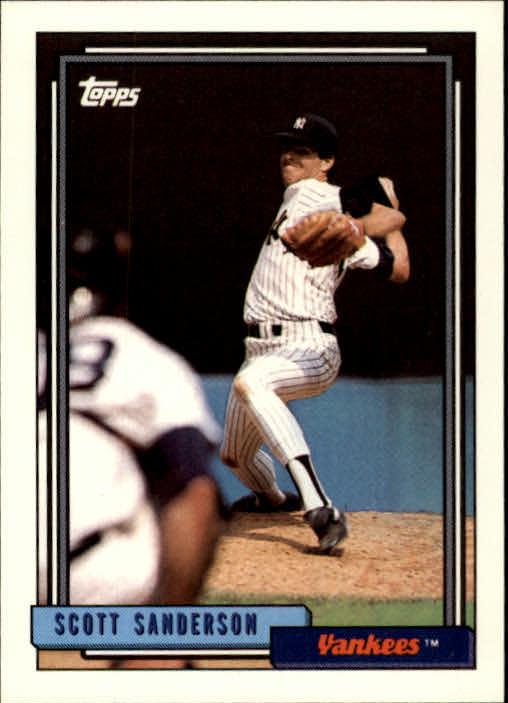 1992 Topps #480 Scott Sanderson