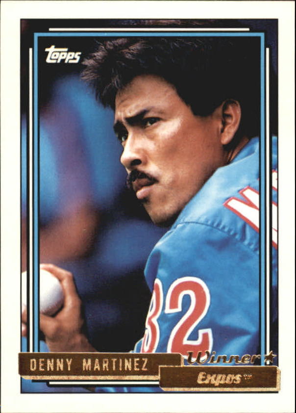 1992 Topps Gold Winners #15 Dennis Martinez