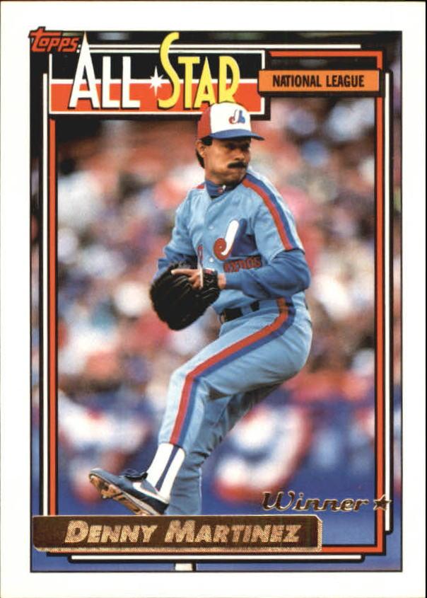 1992 Topps Gold Winners #394 Dennis Martinez AS