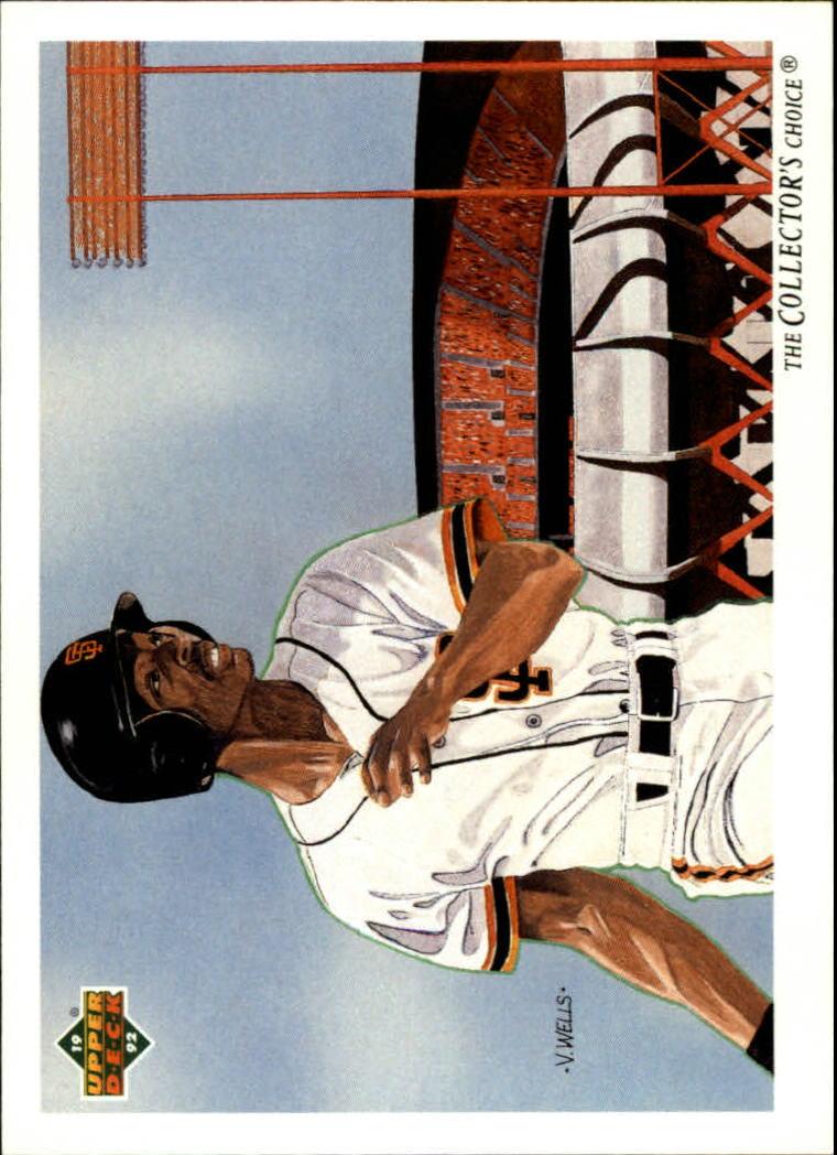 1992 Upper Deck #34 Willie McGee TC/San Francisco Giants