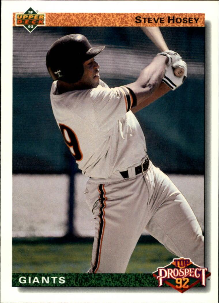1992 Upper Deck #62 Steve Hosey