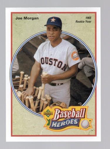 1992 Upper Deck Bench/Morgan Heroes #40 Joe Morgan
