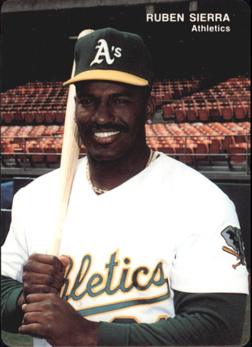 1993 A's Mother's #5 Ruben Sierra