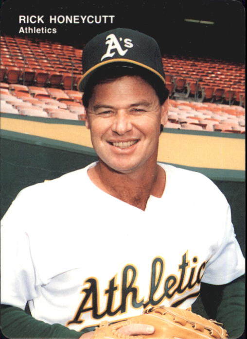 1993 A's Mother's #8 Rick Honeycutt