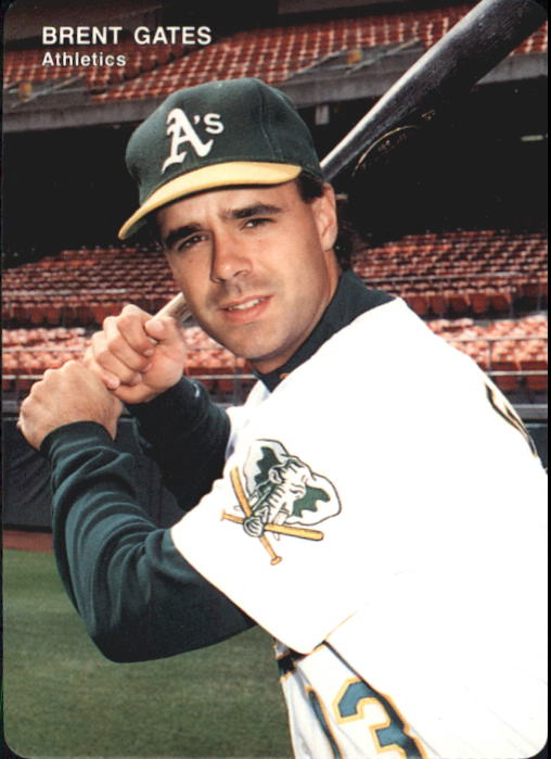 1993 A's Mother's #17 Brent Gates