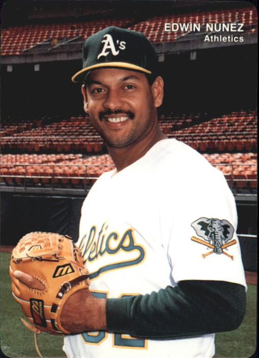 1993 A's Mother's #24 Edwin Nunez