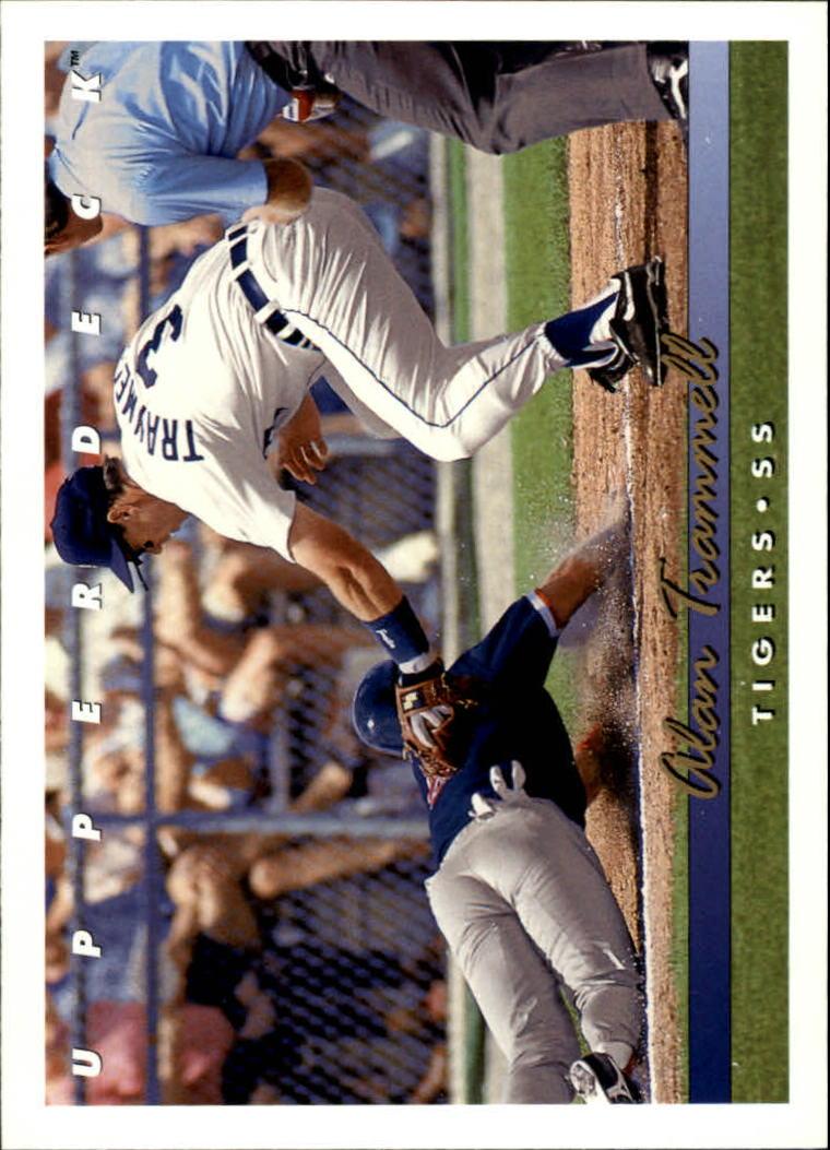 1993 Upper Deck #532 Alan Trammell Detroit Tigers Baseball Card