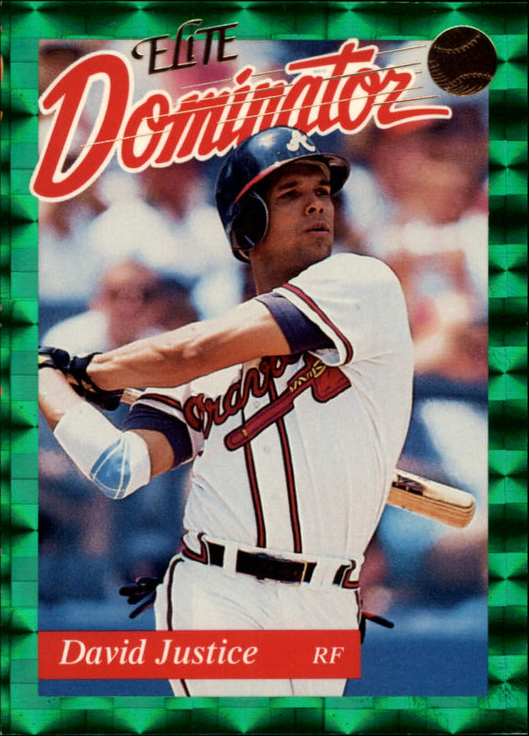1993 Donruss Elite Dominators #5 Dave Justice