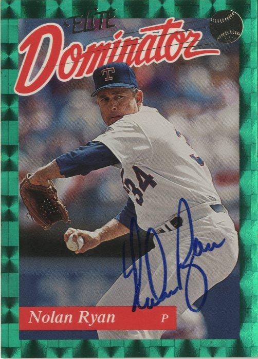 1993 Donruss Elite Dominators #AU10 Nolan Ryan AU