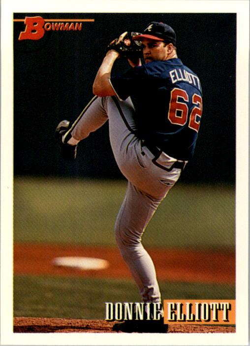 1993 Bowman #58 Donnie Elliott RC