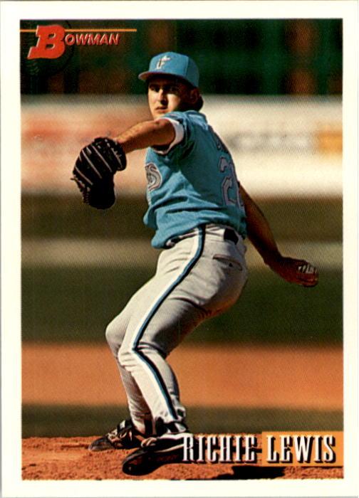 1993 Bowman #502 Richie Lewis RC