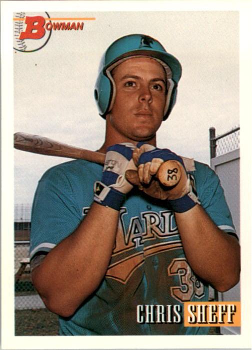 1993 Bowman #642 Chris Sheff RC