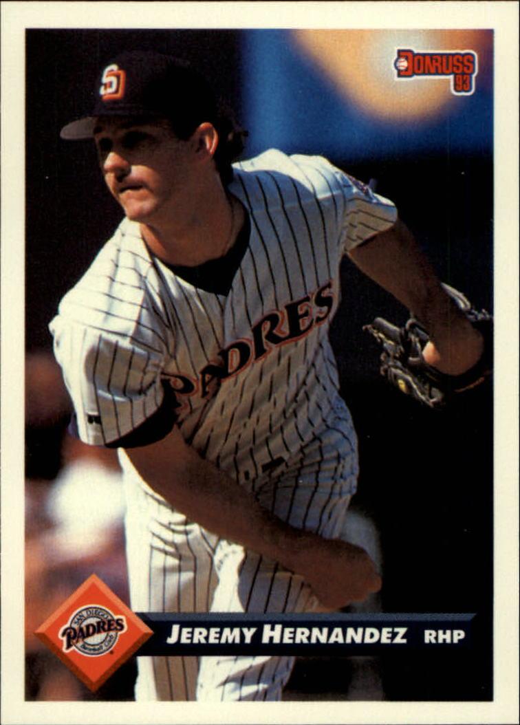 1993 Donruss #180 Jeremy Hernandez