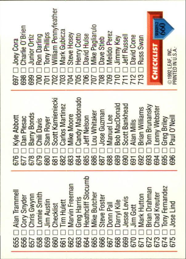 1993 Donruss #660 Rob Picciolo/Tony Gwynn/Gary Sheffield CL back image