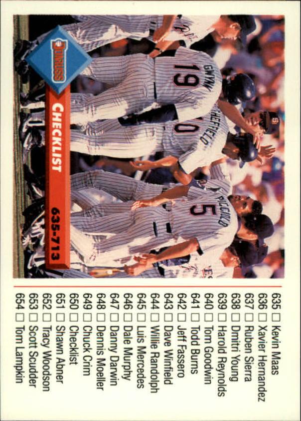 1993 Donruss #660 Rob Picciolo/Tony Gwynn/Gary Sheffield CL
