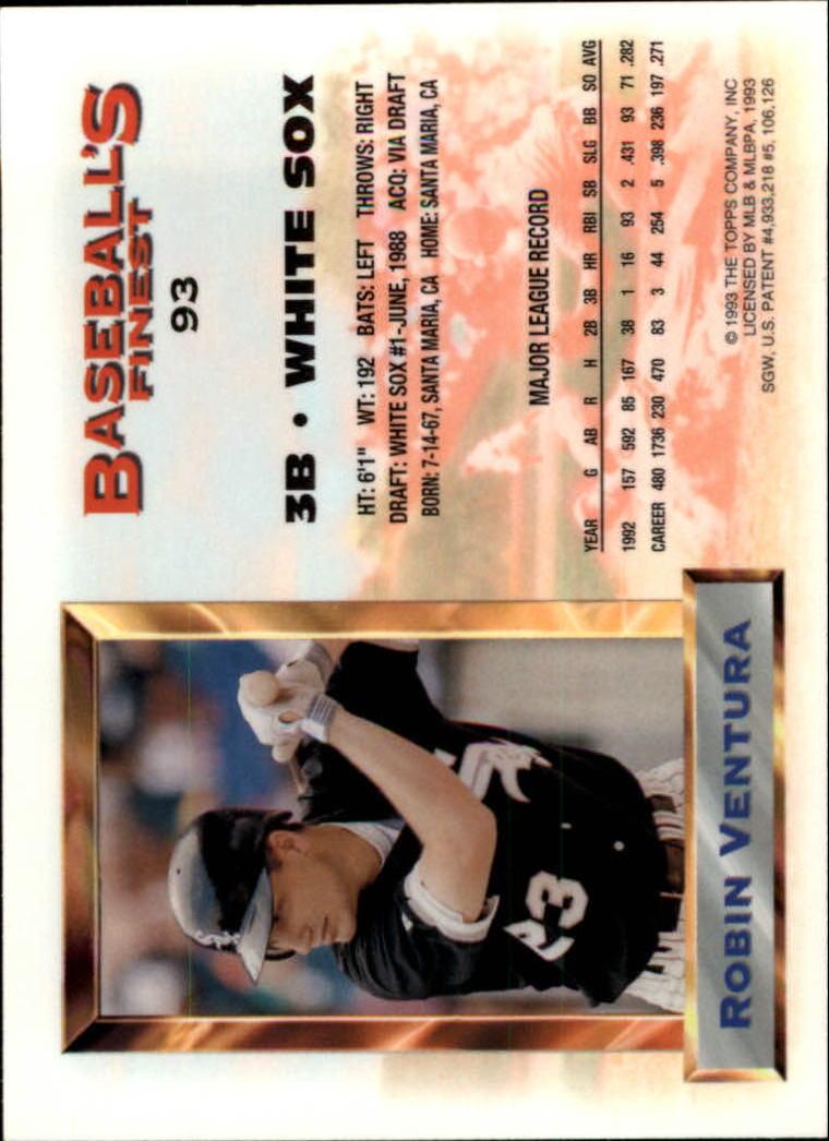 1993 Finest #93 Robin Ventura AS back image