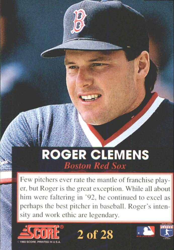 1993 Score Franchise #2 Roger Clemens back image