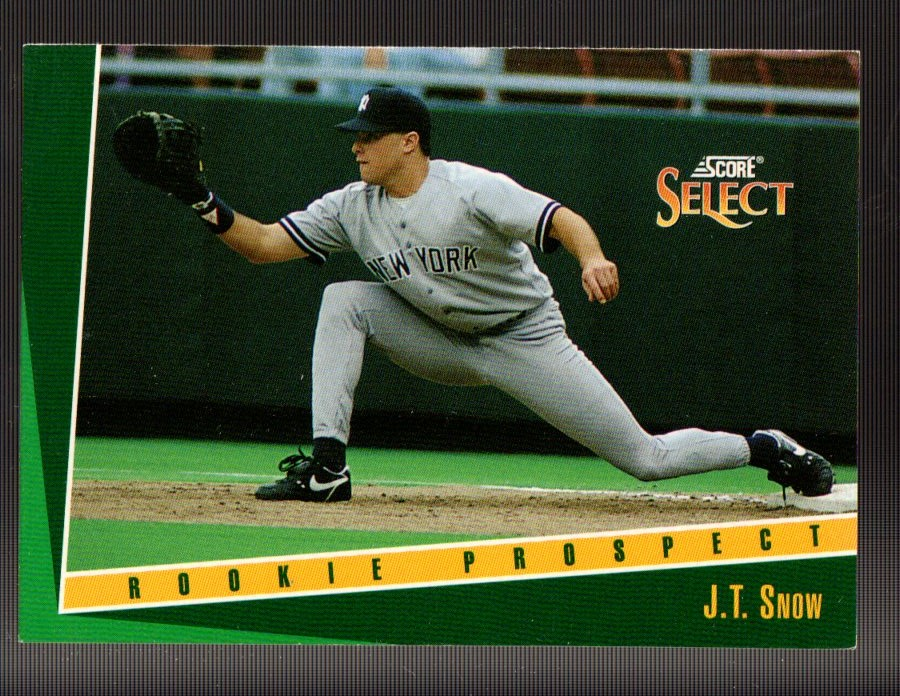 1993 Select #385 J.T.Snow RC