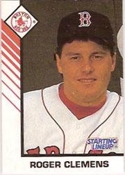 1993 Kenner Starting Lineup Cards #8 Roger Clemens
