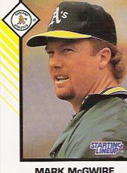 1993 Kenner Starting Lineup Cards #25 Mark McGwire