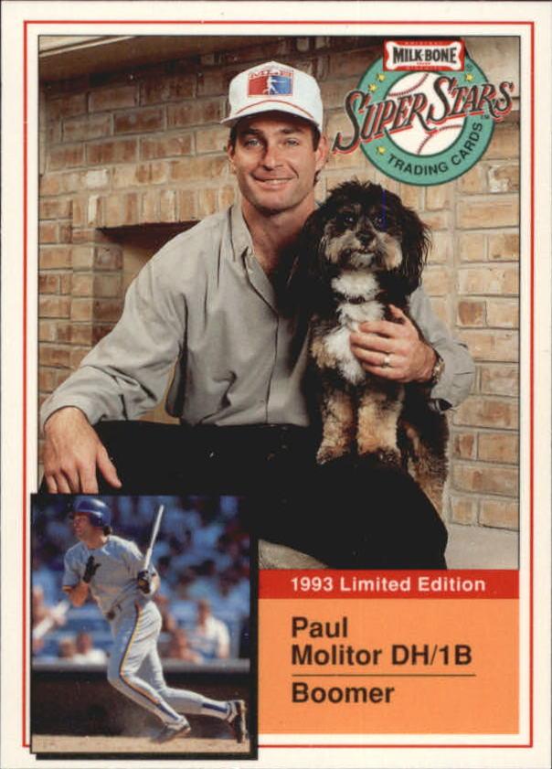 1993 Milk Bone Super Stars #1 Paul Molitor