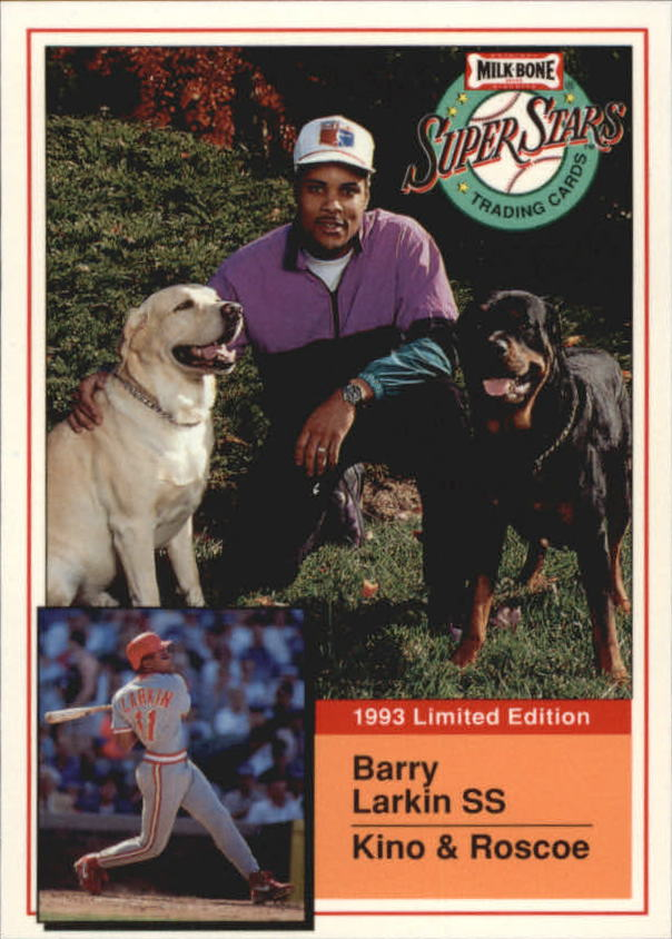 1993 Milk Bone Super Stars #3 Barry Larkin