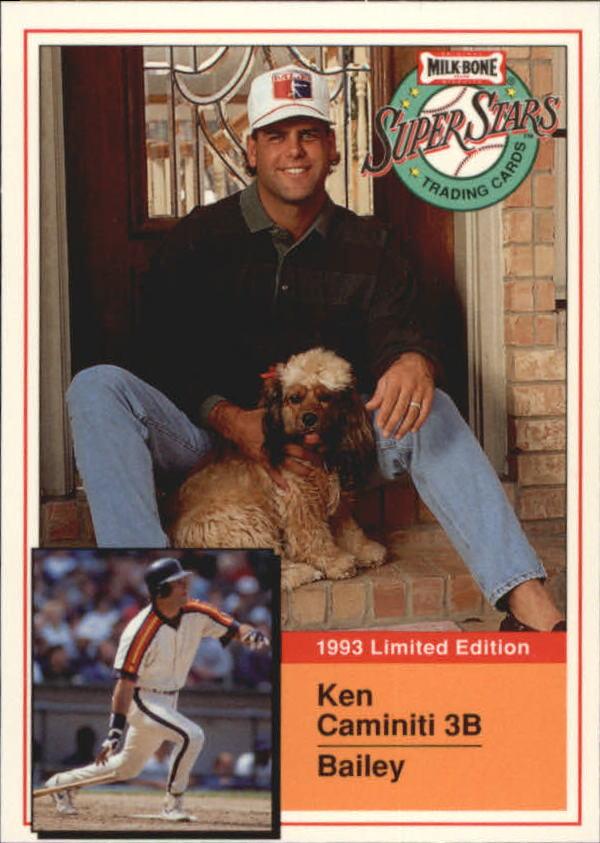1993 Milk Bone Super Stars #6 Ken Caminiti
