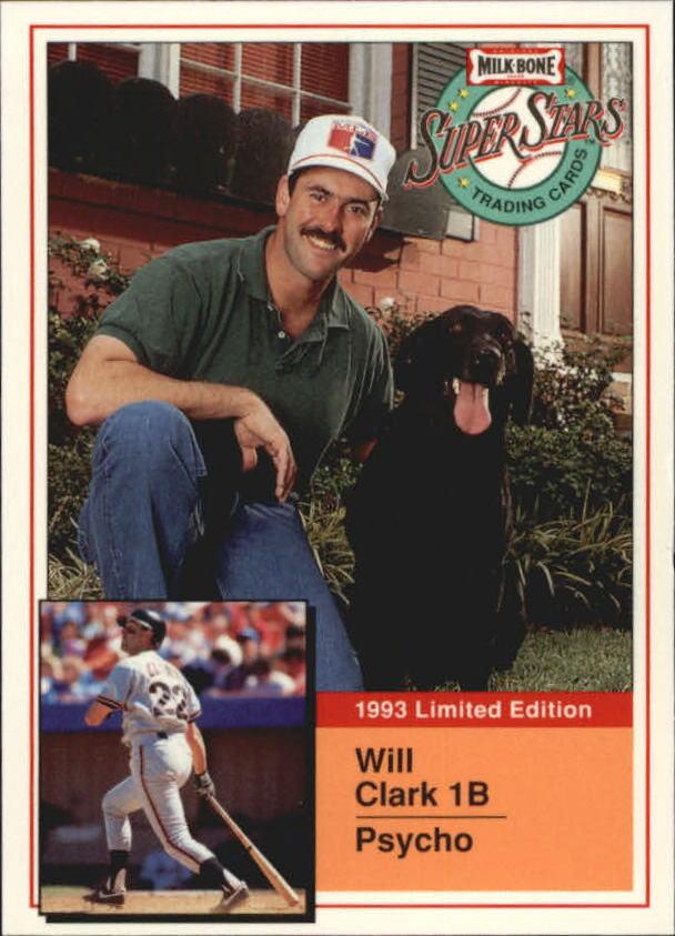 1993 Milk Bone Super Stars #7 Will Clark