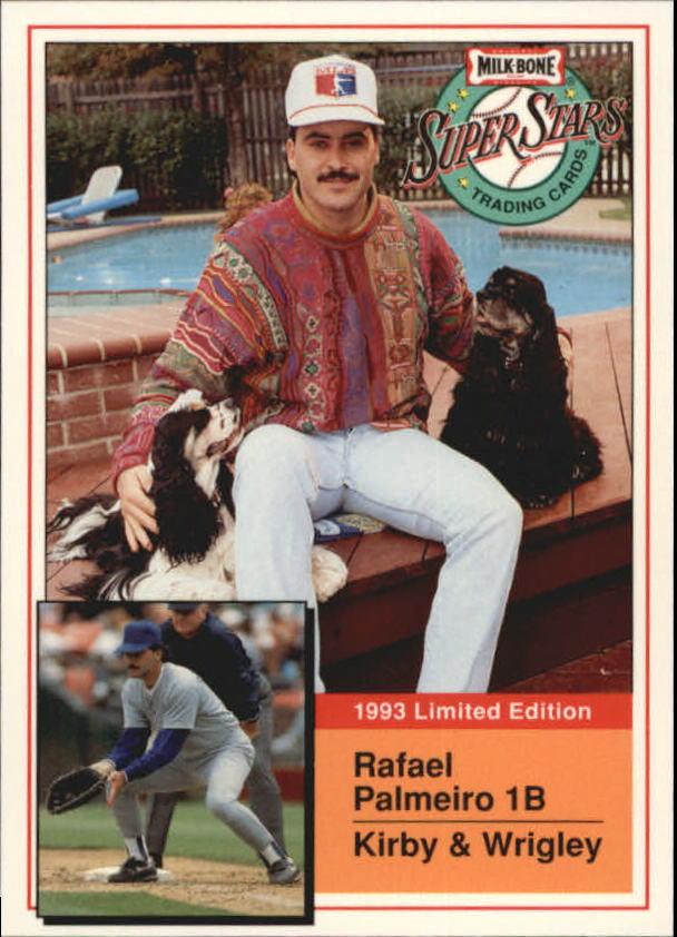 1993 Milk Bone Super Stars #8 Rafael Palmeiro